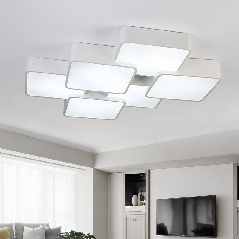 Modern Ceiling Lights For Living Room Bedroom Kitchen White 36W Led Lamp Decor Home Lighting Acrylic Lampshade Fixtures 110-240V new modern led ceiling lights for living room bedroom plafon home lighting combination white and black home deco ceiling lamp