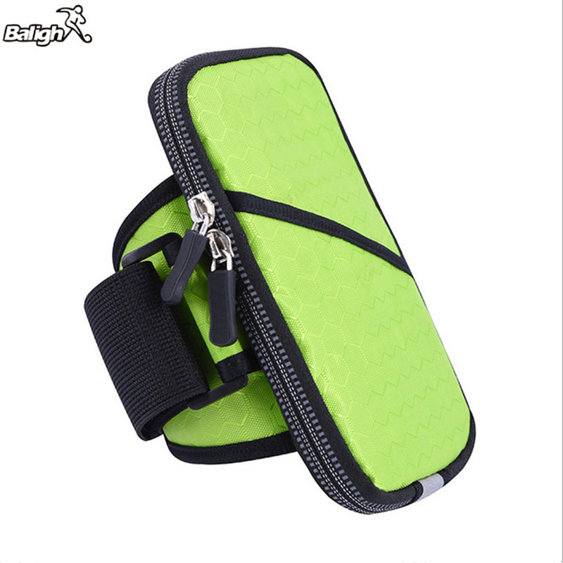 Balight 2017 New Multi-function Sports Arm Package Green Pouch Waterproof Fitness Wrist Bag Phone Arm Band For Iphone and Samung