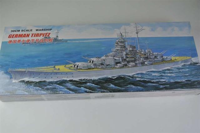30CM Scale Warship World War II German TIRPITZ Battleship Plastic Assembly Model Electric Toy XC80909
