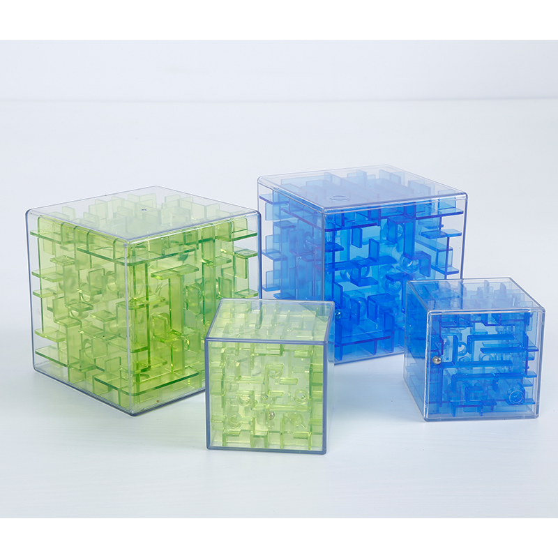 2 Colors 3D Mini High Speed Cubic Maze Cube Puzzle Game Cube Maze Childrens Rolling Ball ...