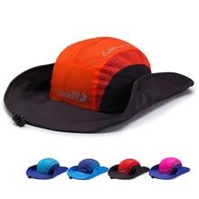 High Quality Quick drying Bucket Hats Outdoor Fishing Wide Brim beret Cap Summer Sombrero Patchwork Sun Hat For Men Women