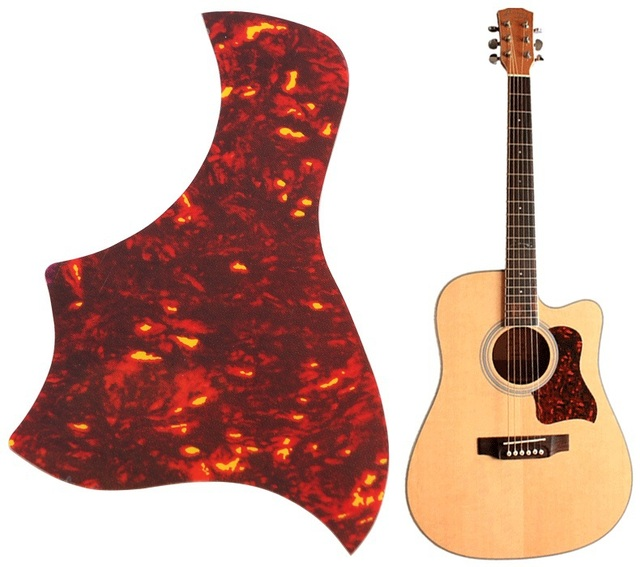 SYDS Alice Flame Acoustic Guitar Pickguard Sticker For Pick Guard Size 40 41