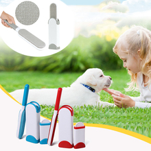 Pet Brush Fur Dog Comb Tool Pet Hair Remover Brush Cat Base Double-Side Home Furniture Sofa Clothes Cleaning Lint Remover pet hair deshedding dog cat brush comb sticky hair gloves hair fur cleaning for sofa bed clothe pets dogs cats cleaning tools