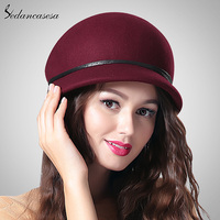 2015 Fashion New Brand Australian Wool Cap Brown Black Wine Red Winter Women Beanies FW213001