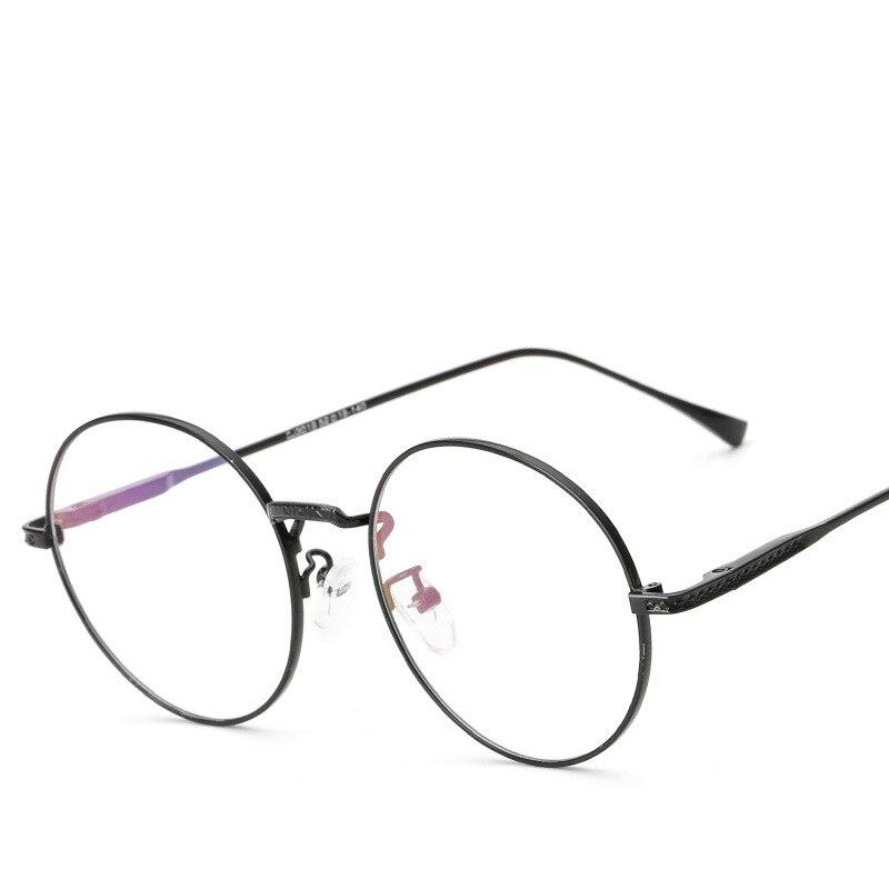 Marco redondo Gafas Hombres Mujeres Lente Transparente Gafas de ...