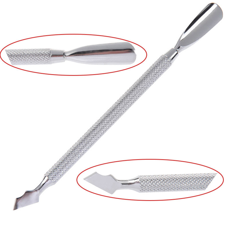1 Pc Double ended Cuticle Pusher Remover Stainless Steel Fashion font b Nail b font Cuticle