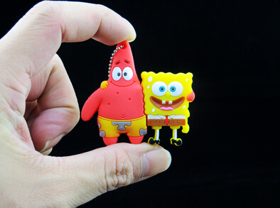 Whole sale cartoon usb flash drive Good friend ! Patrick star Sponge Bob 4G 8G 16G 32G usb flash drives S246 no chian