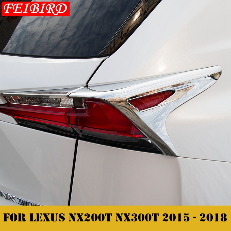<font><b>Accessories</b></font> For <font><b>LEXUS</b></font> NX <font><b>NX200T</b></font> NX300T <font><b>2015</b></font> 2016 2017 2018 Rear Tail Trunk Light Lamp Frame Decoration Molding Cover Kit Trim image