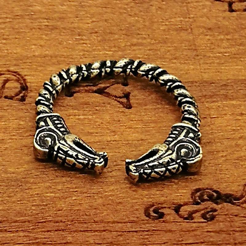 Viking Dreki anel ajustável Anel Da Jóia Étnica Das Mulheres Dos Homens do Transporte Da Gota
