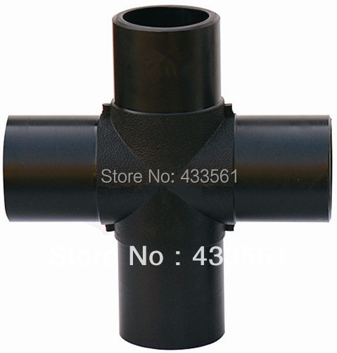 Standard GB13663.2-2005 DN110  Molded injected Plastic HDPE Equal Cross fittings tube connector part for water pipeline irrigate 2 4mm cross tpye equant connector equal tube joiner material pp plastic fitting fish tank airline aquarium