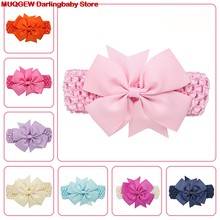 Toddler Infant Children Baby Headband Girls Wave Headbands Cotton Bowknot Hair Accessories Kid Hair Band Bandage Accessory Crown(China)
