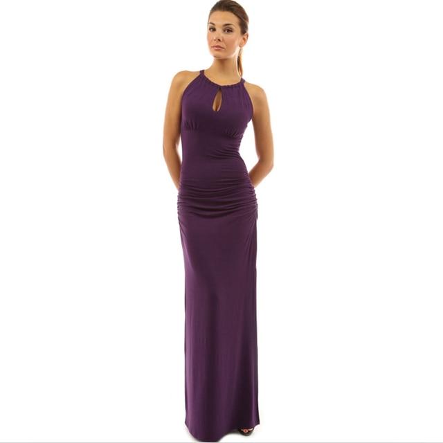1 piece Sheath Milk Silk Slim Ankle Length Dress Women Solid Stprap ...