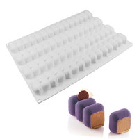 Modular Flex Infinity Rectangle Wave Shaped 3D Silicone Cake Mold Baking Form Decorating Pastry Tools For