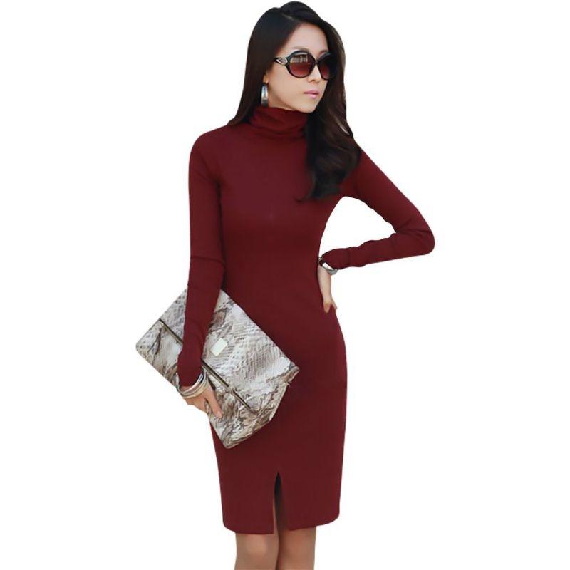 Dresses Strict 2017 Spring & Autumn Dresses Women Long Sleeve Pullover Jumper Bodycon Slim Sweater Tops Casual Party Dresses Vestido De Festa