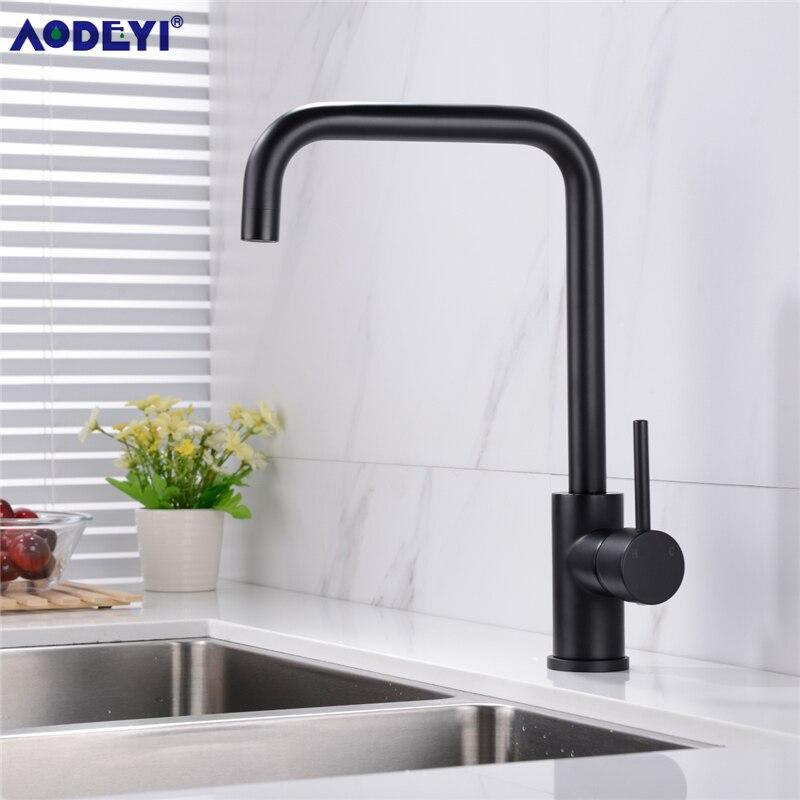 Küche Wasserhahn Messing 360 Grad Heiße Und Kalte Küche Wasserhahn Mixer Dual Waschbecken Rotation Mit Belüfter Für Küche Gebürstet gold