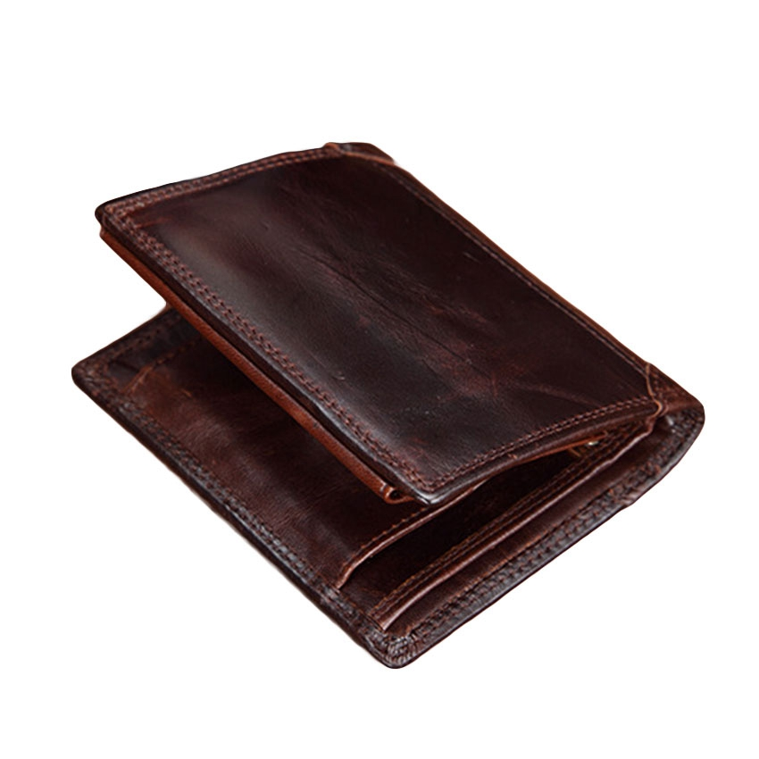 SMIRNOFF Famous Brand Vintage Wallet Luxury Male Wallet 2 Folded Multi-Card Bit Genuine Leather Card Wallet Male Short Purse Bag