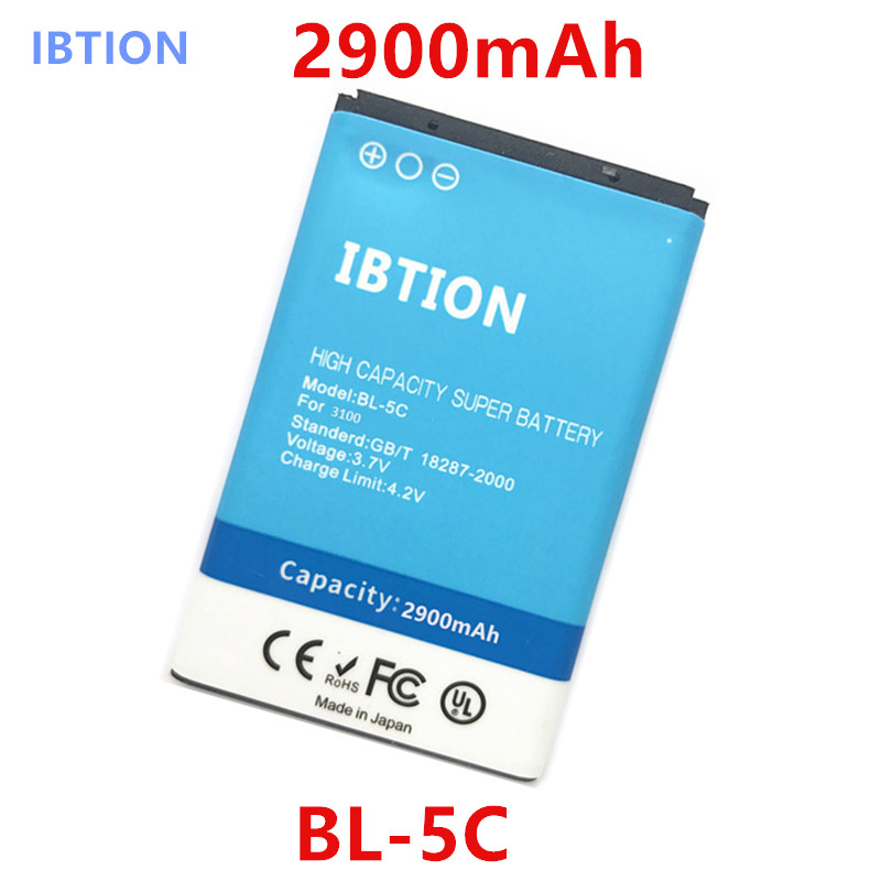 US $8 0 |2900mAh BL 5C / BL 5C High Capacity Battery for Nokia 5130  XpressMusic 6230i 1100/1108/1110/1112/1116/1200/1208/1209/1255/1315-in  Mobile
