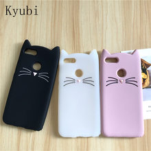 Soft silicone case for xiaomi redmi 5 plus 4a note 3 4 4x mi 8 6 5 4 mi8 cute beard cat 3D rubber full protect glitter cover