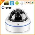 Interior Dome Vandal proof câmera IP CCTV 720 P 960 P 1080 P opcional ONVIF segurança HI3518E / processador HI3518C câmera de vigilância IP