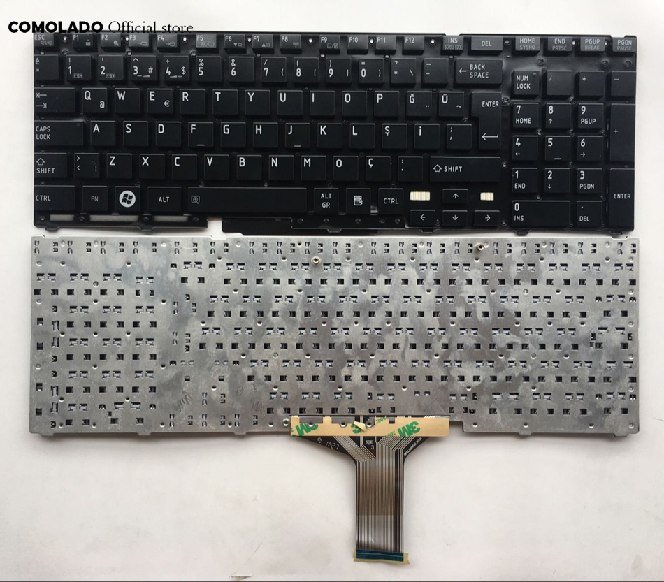 TR Turkish keyboard for <font><b>Toshiba</b></font> <font><b>Satellite</b></font> <font><b>P750</b></font> P755 P750D P770 P770D P775 X770 X775 black laptop keyboard TR layout image