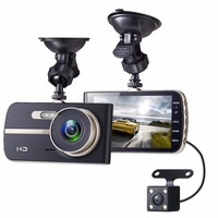 Gotomato Full HD 1080P 4 Inch IPS HD Screen 2 Lens Car DVR Camera Video Recorder