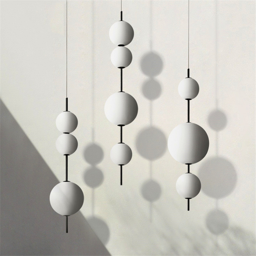 Modern LED Pendant Lamps Hanging Lamps Restaurant Gourd Pendant Lights Cafe Bar Bedroom Kitchen Dining Room Glass Deco Fixtures