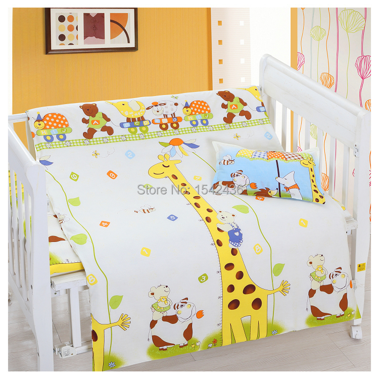baby crib bedding 100% cotton baby bedding set baby cot bedclothes  pillowcase+ duvet cover + - Popular Baby Crib Cover-Buy Cheap Baby Crib Cover Lots From China