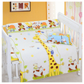 Bebé ropa de cama cuna 100% algodón del lecho del bebé cuna ropa de cama funda de almohada + funda nórdica + hoja 3 unids/set