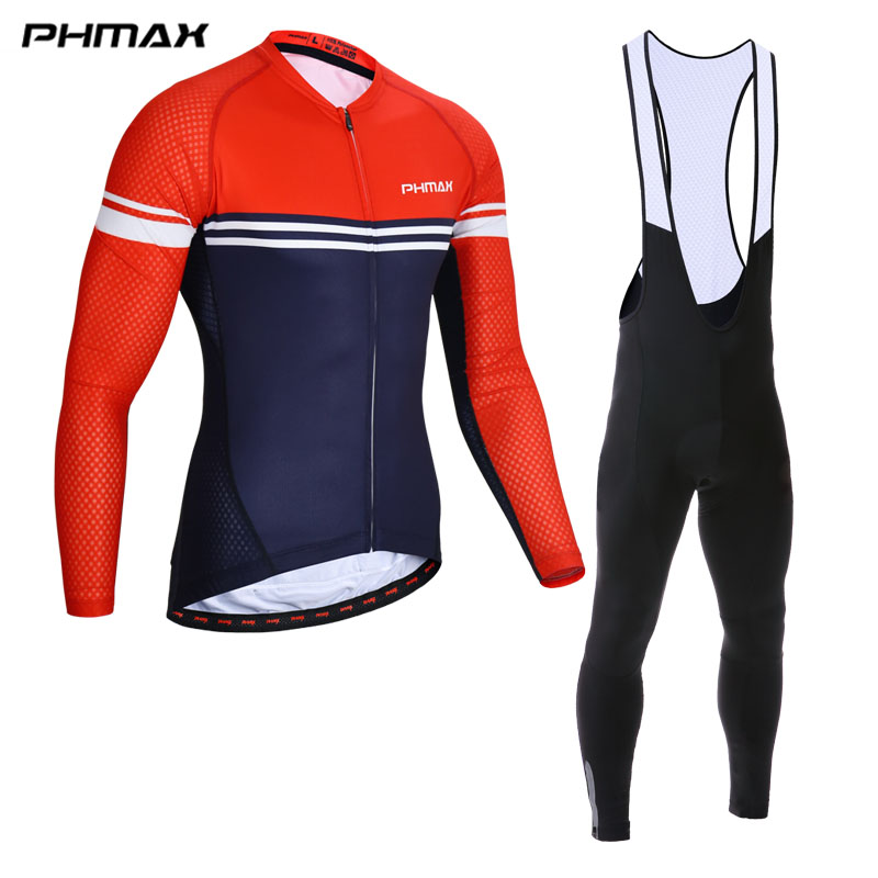 PHMAX 2018 Cycling Jersey Set Spring MTB Bicycle Clothes Ropa Maillot Ciclismo Racing Bike Wear Clothing Cycling Set For Mans