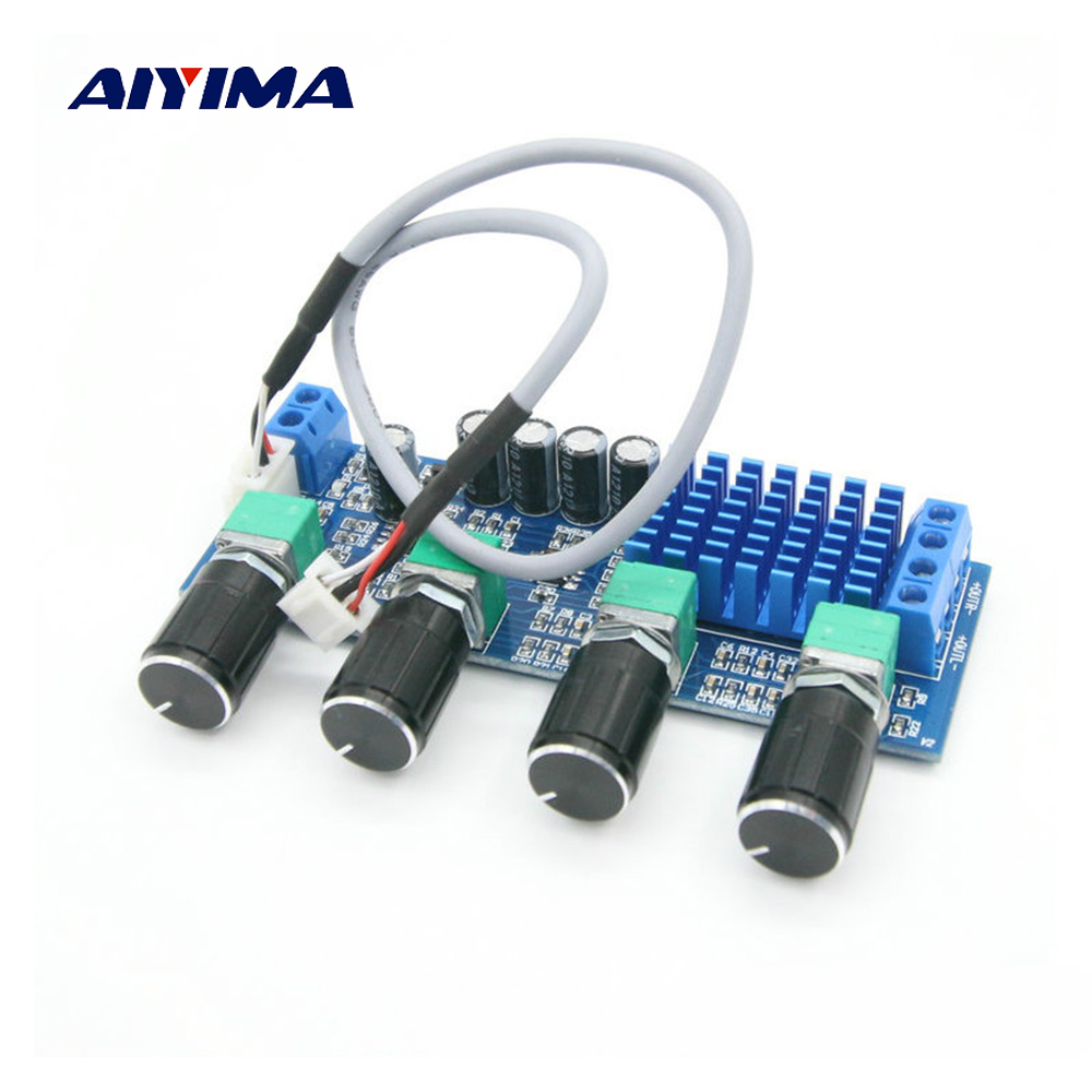 Aiyima TPA3116D2 Audio Amplifier Board Amplificador 80W*2 Dual-channel High Power Digital Amplifier Tone Board OP AMP DC12-24V
