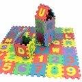 Дети мини EVA Пены Букв Алфавита Числа Этаж Мягкая Детские Мат 3d головоломки для Детей Развивающие игрушки 36 шт.