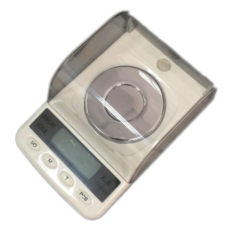 Balances électroniques de précision, Balance numérique LCD Portable et affichage à cristaux liquides, de laboratoire pour peser les bijoux, 50g/0.001g, avec comptage