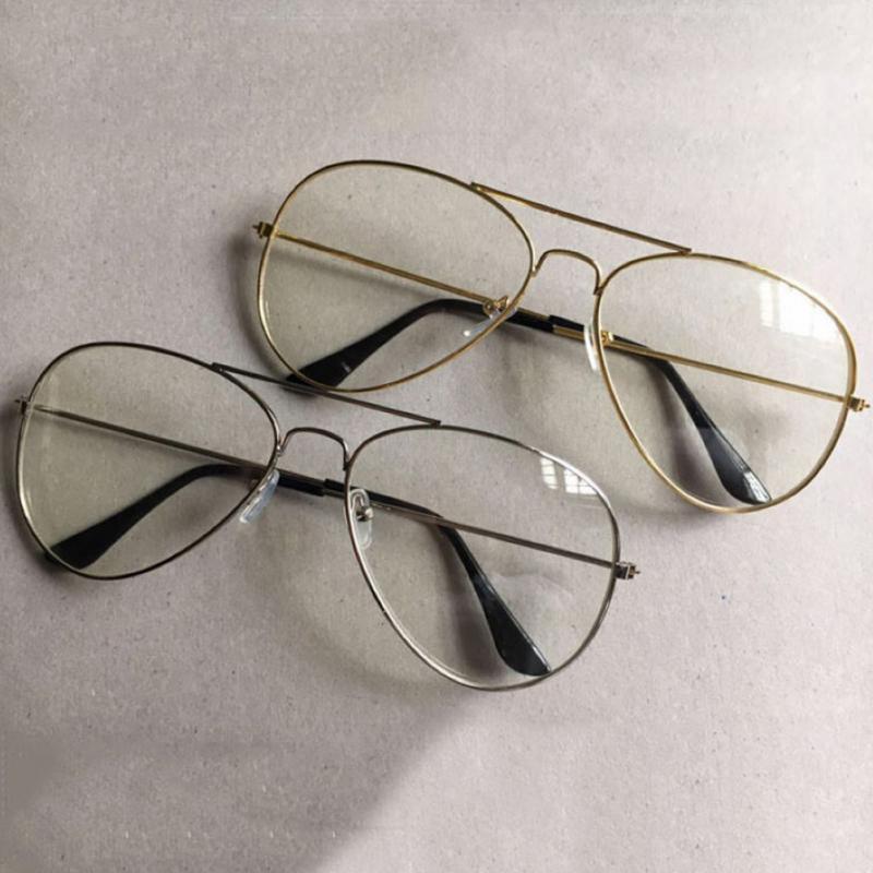 SchöN Unisex Große Runde Gold Metall Rahmen Gläser Oversize Klare Linse Vintage Retro Chic Brillen Herren-brillen Brillenrahmen