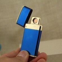 แปลกUsbชาร์จไฟฟ้าArcไฟแช็คส่วนบุคคลชีพจรบางเบาไม่มีก๊าซไร้ควันบุหรี่เบา821