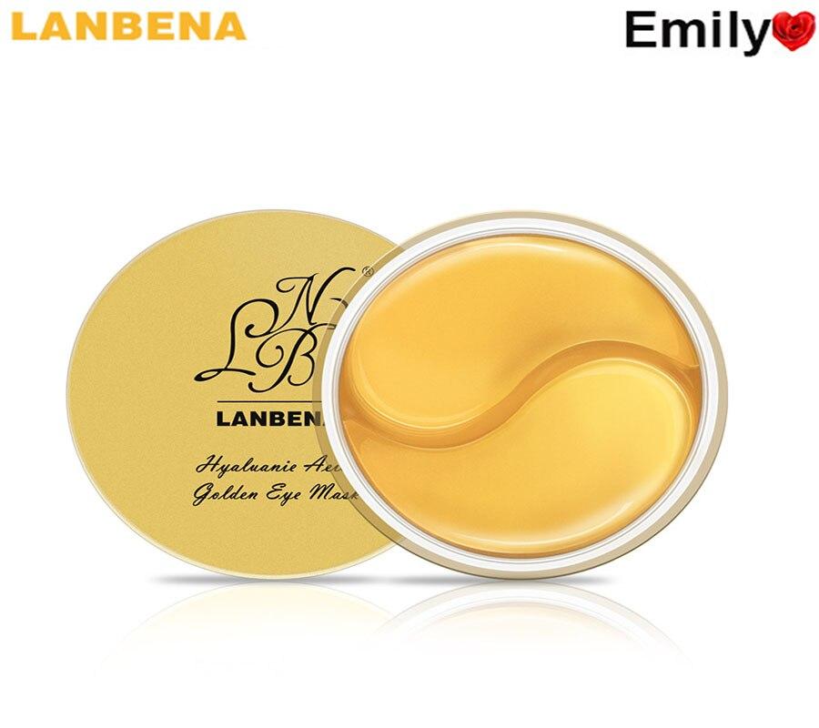 LANBENA Hyaluronic Acid Golden Eye Mask Sleep Mask Eye Patches Dark Circles Mask Facial To Face Skin Care Anti Wrinkle 60pcs