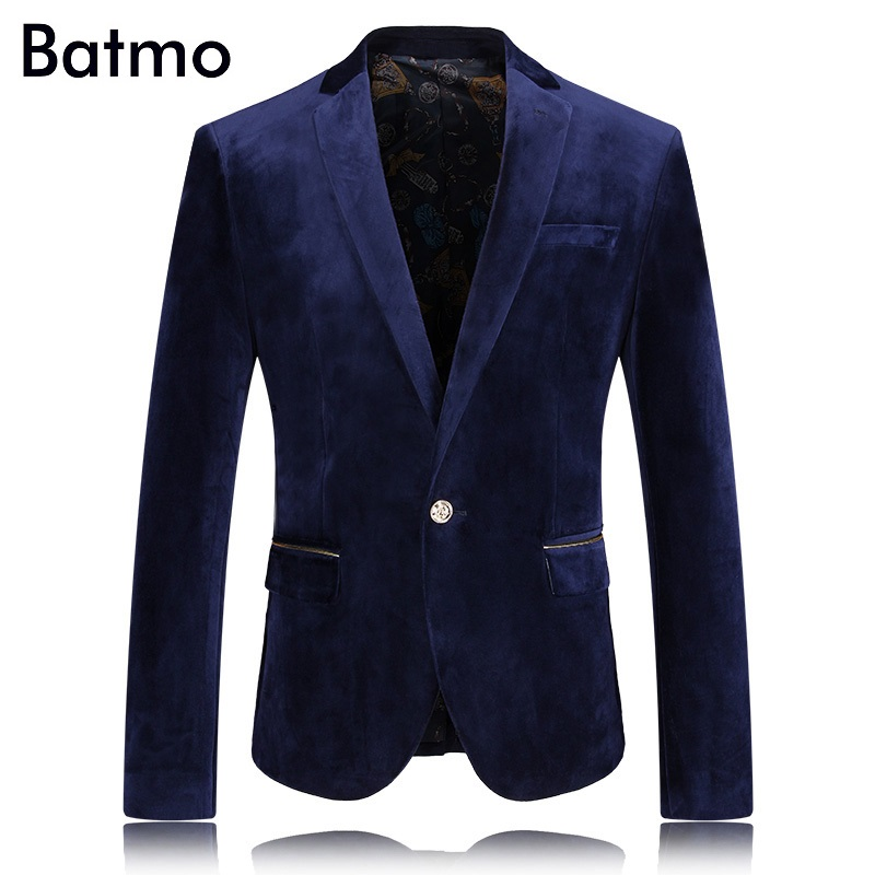 2016 new arrival autumn high quality velvet casual blazer Business suit jacket free shipping size M