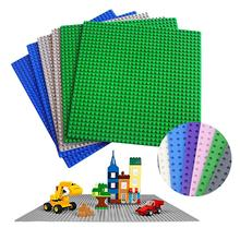 Single Base Plate for small dots 16x16 32x32 brick Building Blocks Figures Compatible with small particles toys for children DIY стоимость
