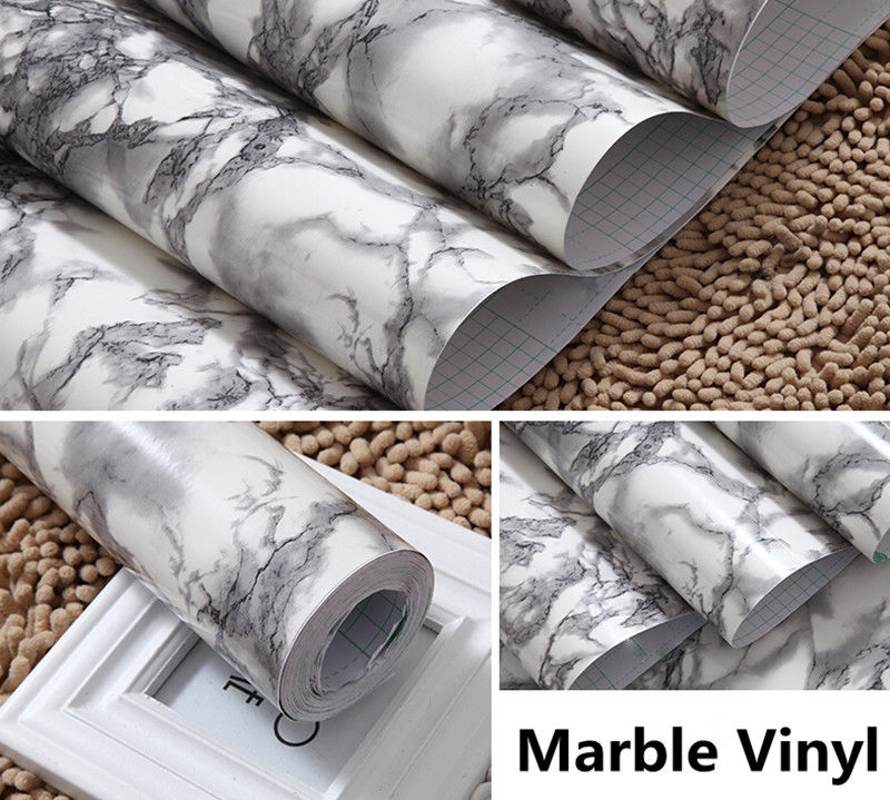 Marble Gloss Vinyl Architectural Wrap for Home Office Furniture
