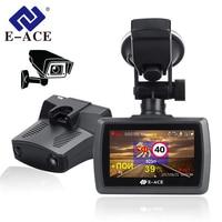 E ACE 3 IN 1 Car Dvr Camera 3.0 Full HD 1296P Dash Cam Radar Detector GPS Auto Registrator Video Recorder Dashcam for Russian