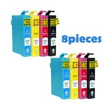 8 шт. совместимые картриджи для Epson T1931 T1932 T1933 T1934 для Epson рабочей силы WF-2521 WF-2531NF WF-2541 струйных принтеров