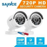 SANNCE 2PCS AHD 720P 1200TVL Security Camera System Outdoor IR Night Vision 1MP CCTV Home Surveillance