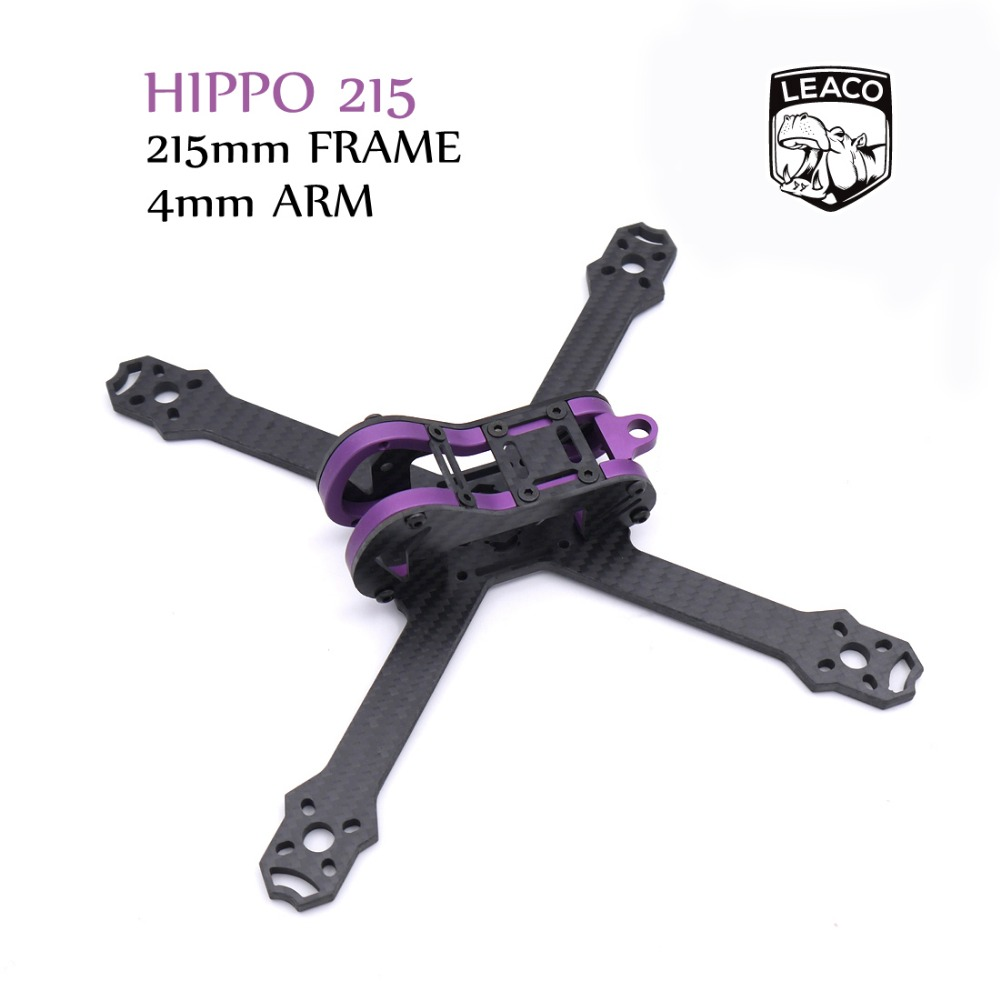 HIPPO 5 Inch 215mm 215 pure carbon fiber frame kit with 4mm arm and aluminum parts for FPV RC cross racing drone quadcopter diy carbon fiber frame arm with motor protection mount for qav250 zmr250 fpv mini cross racing quadcopter drone