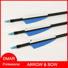 12pcs/lot Mix Carbon Arrow 30″  O.D. 7.8mm/0.3″ Spine 600 for Recurve Bow Compound Bow Long Bow Hunting/Archery Accessories