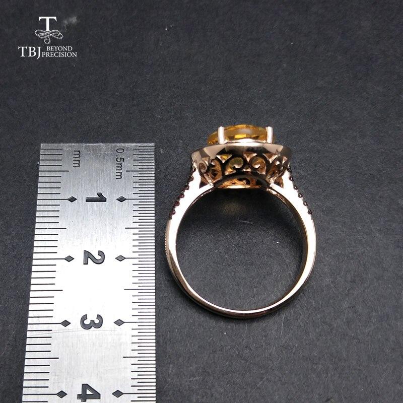 TBJ, 100% natürliche 10*12mm oval cut citrin ringe für frauen 925 Sterling Silber Ring Edlen Schmuck Engagement Ring mit box-in Schmucksets aus Schmuck und Accessoires bei  Gruppe 3
