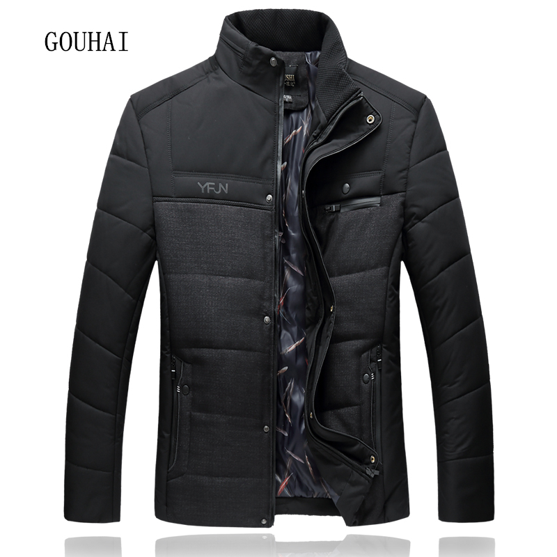 L-7XL Men Parkas Hooded Mens Winter Jacket Patchwork Plus Size 2017 Fashion Man Coat Stand Collar Overcoats Male Top Quality 2015 mens down padded coat fashion splice leather patchwork male down coat hooded winter jacket man fur collar plus size xxxxxl