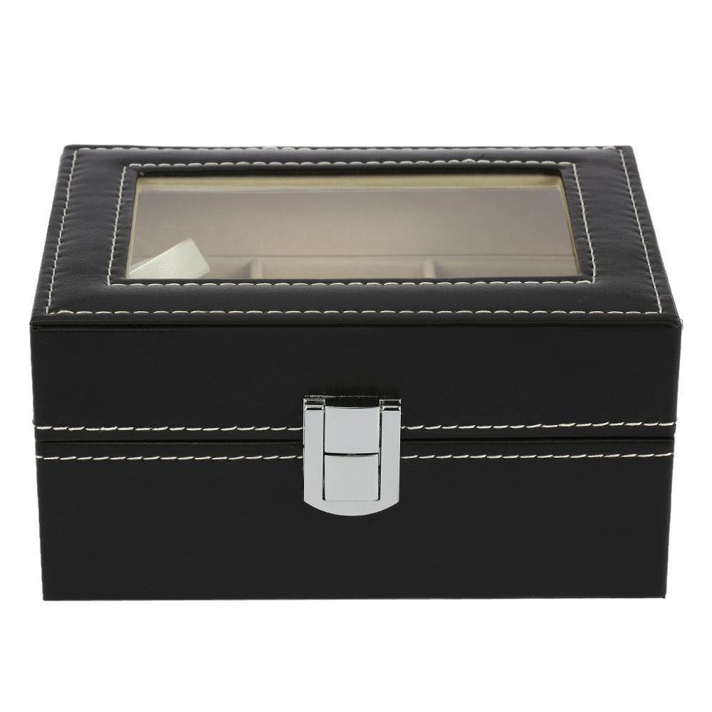 3 Slots Leather Watch Display Box Wristwatch Storage Holder Organizer Case3 Slots Leather Watch Display Box Wristwatch Storage Holder Organizer Case