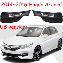 US version car bumper lamp for honda Accord Daytime light LED 2014~2016y car accessories  headlight for accord fog light