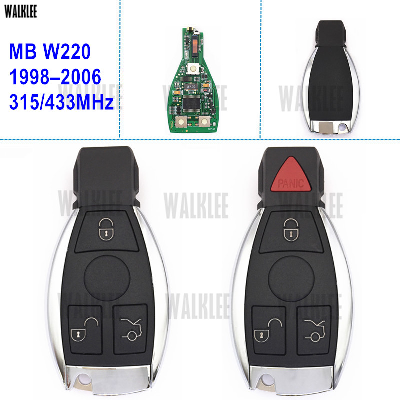 WALKLEE Remote Smart Key for Mercedes Benz S-CLASS W220 S280 S320 S350 S400 S430 S500 S600 S55 S65 CDI for mercedes benz w221 s class s350 s400 s500 s550 s600 s63 s65 amg excellent multi color ultra bright rgb led angel eyes kit