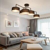 LukLoy  lámpara de luz LED de araña artística creativa  lámpara LED moderna para sala de estar  comedor  accesorio de iluminación de Metal nórdico  Bar  dormitorio