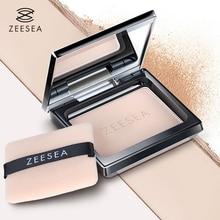 цена ZEESEA Loose Powder Compact Pressed Powder For Face Control Oil Lasting Concealer Waterproof High Gloss Female Repair Makeup 13g в интернет-магазинах